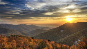 Sunrise at Shenandoah National Park in Virginia US Photo